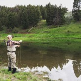 Fly fishing at the Ranch with a guide.